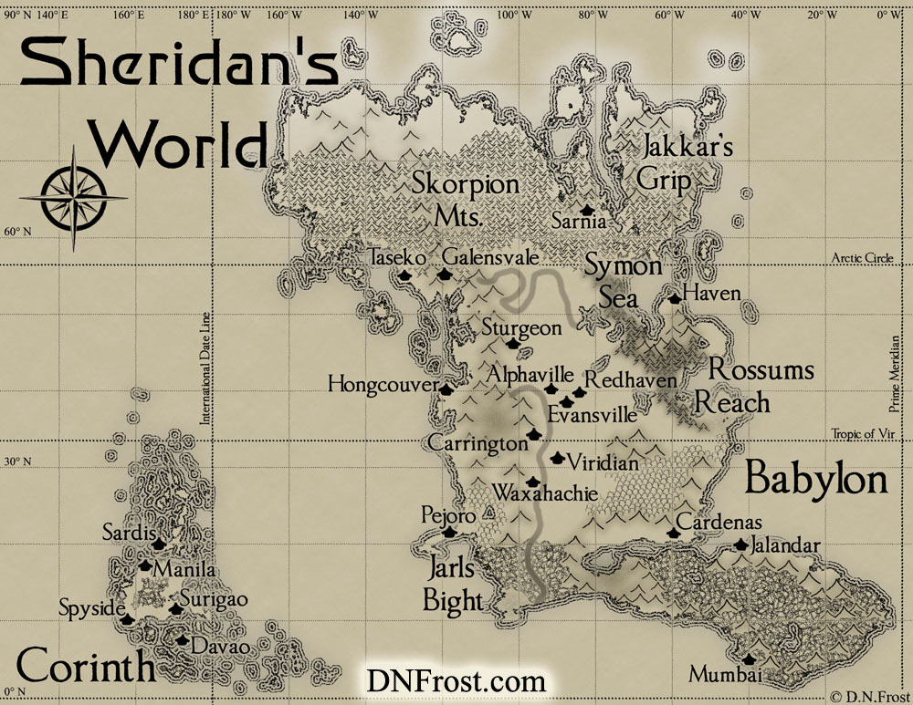 D N Frost And Totkw Books Babylon Of Sheridan S World A Map Commission