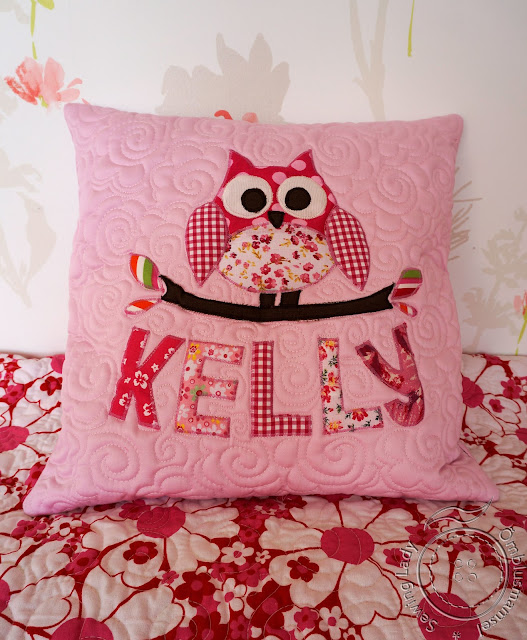 pink owl pillow