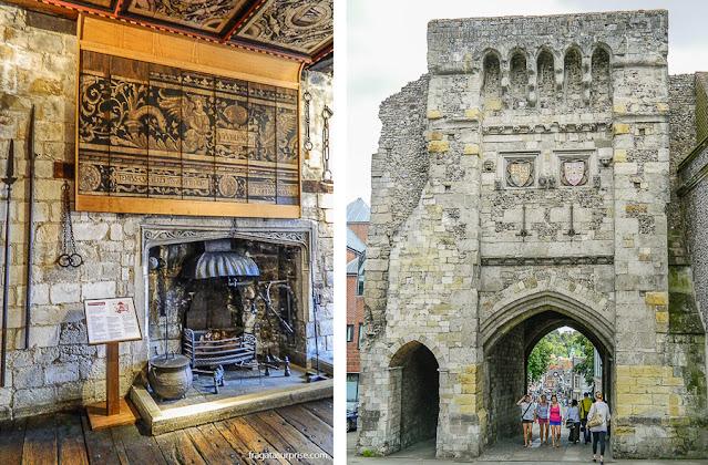 Torre de observação do Westgate, ruínas do Castelo de Winchester, Inglaterra