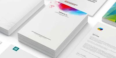 cetak kop surat 2 warna