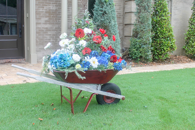 repurposed wheelbarrow