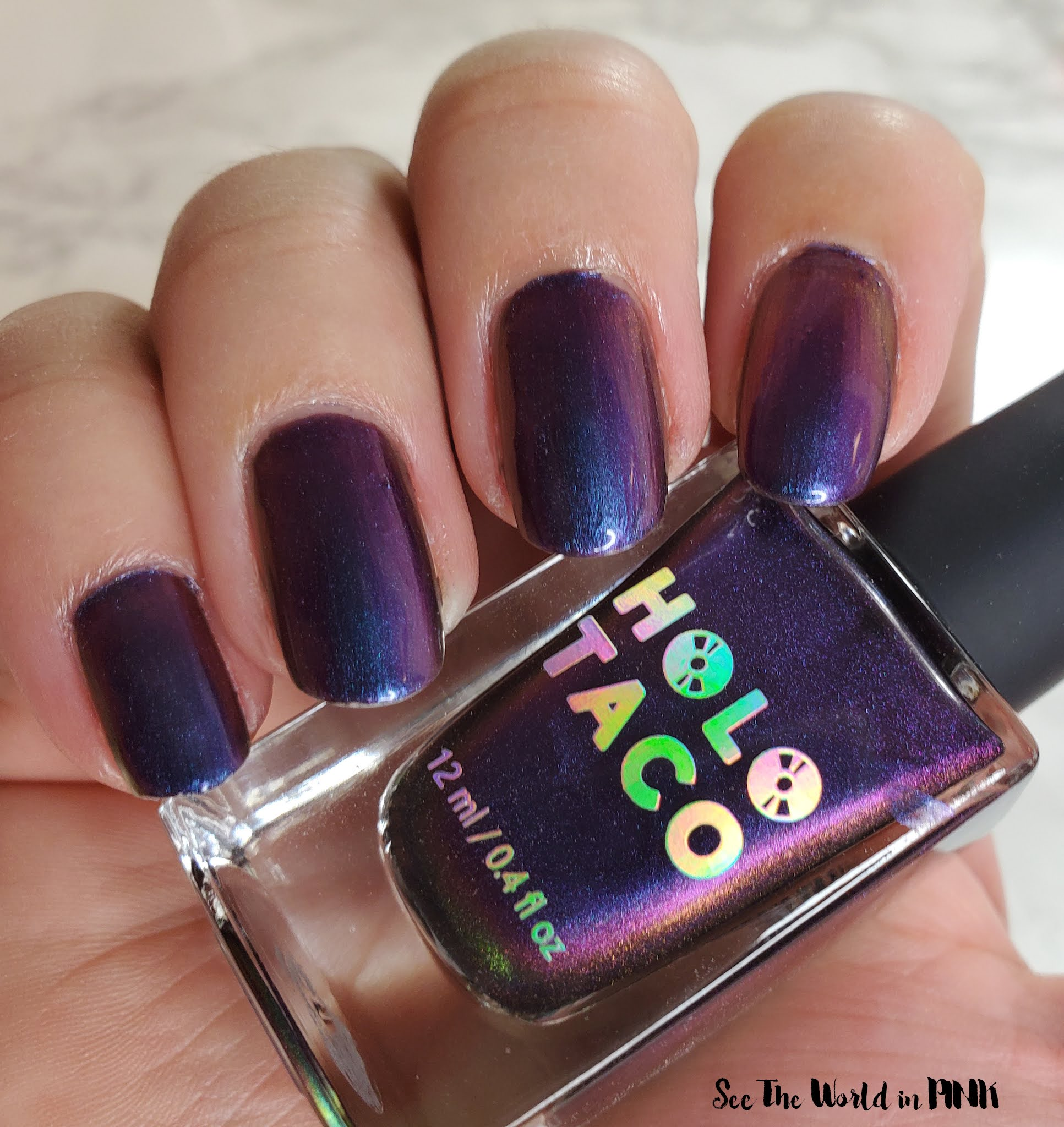 Manicure Monday - Holo Taco Purple With Envy Multichrome Polish