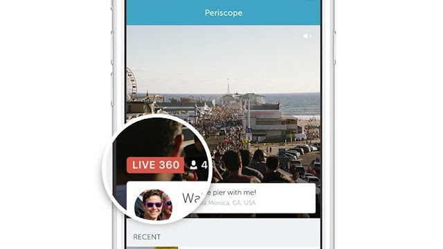 Twitter Live 360 Degree Video Service Periscope Launched