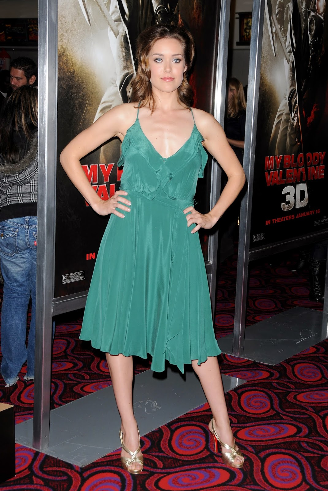 megan boone green satin dress satin lite house