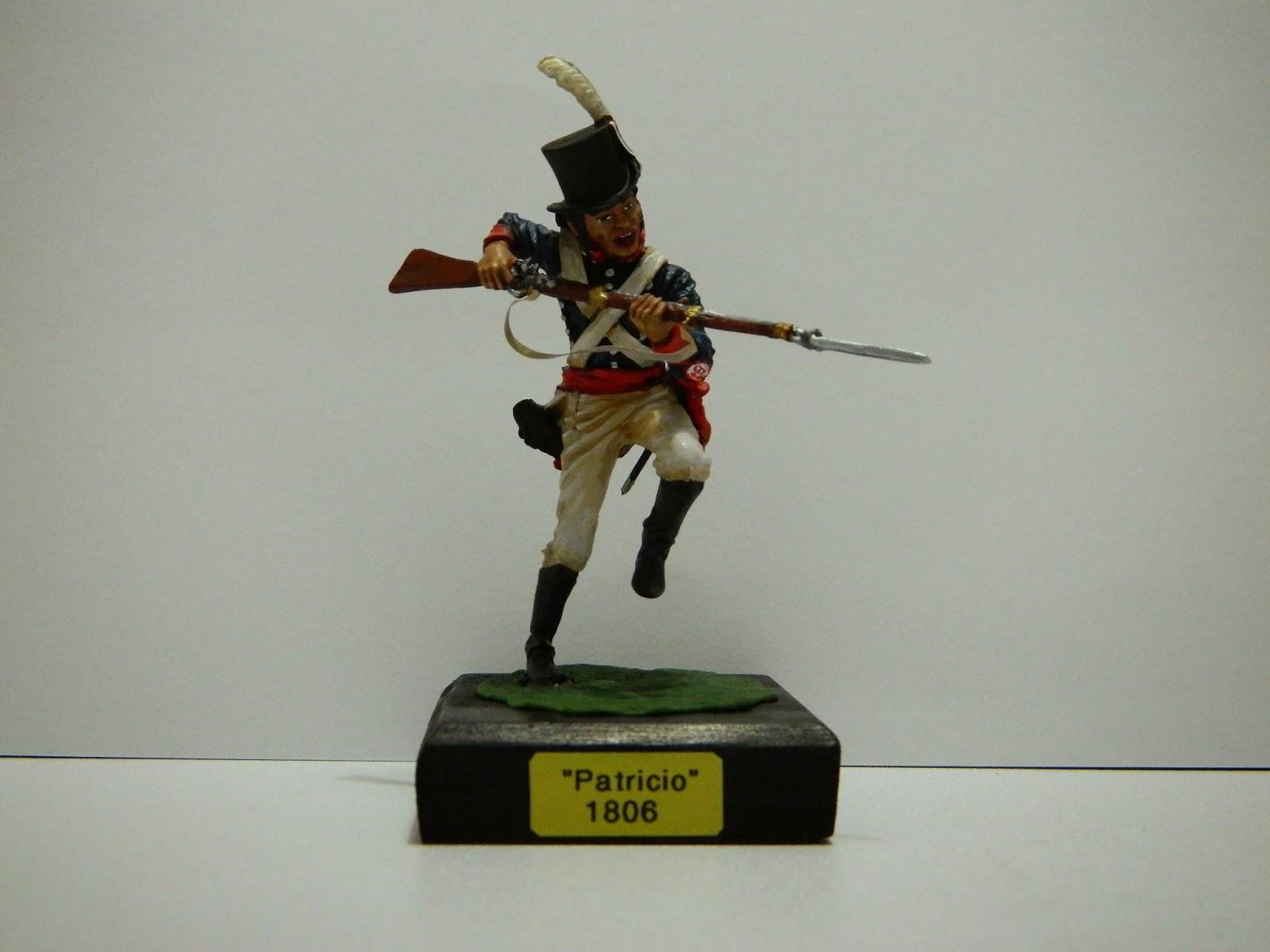Fusilero del Regimiento de Patricios, por Roume