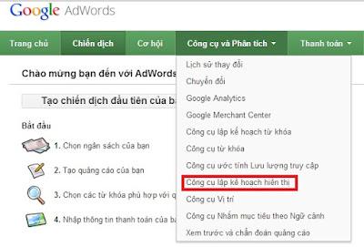 Google Adwords tool
