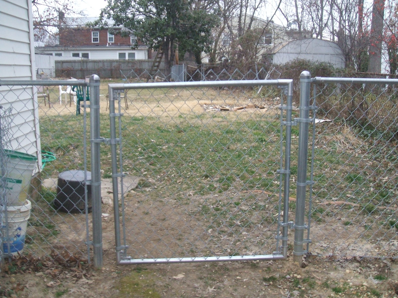 And We Have A Gate Still Need To Trim The Top Off Of Chain Link Fencing But For Now That S Just Cosmetic Consideration