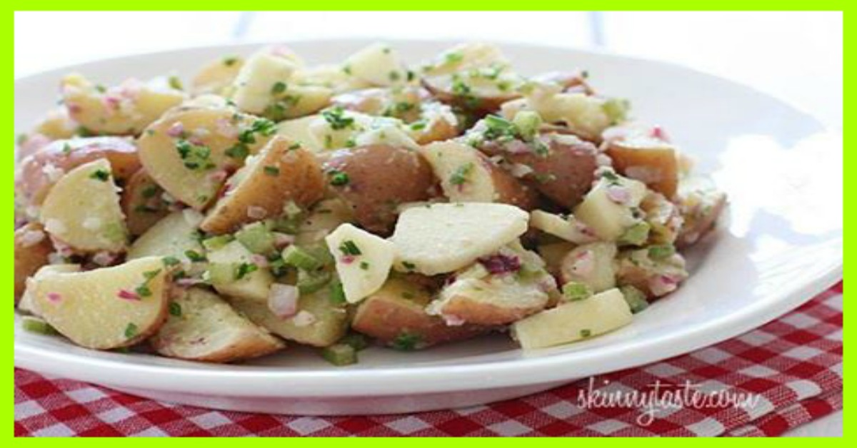 Summer Potato Salad with Apples and Chives Smart Points: 3 ...