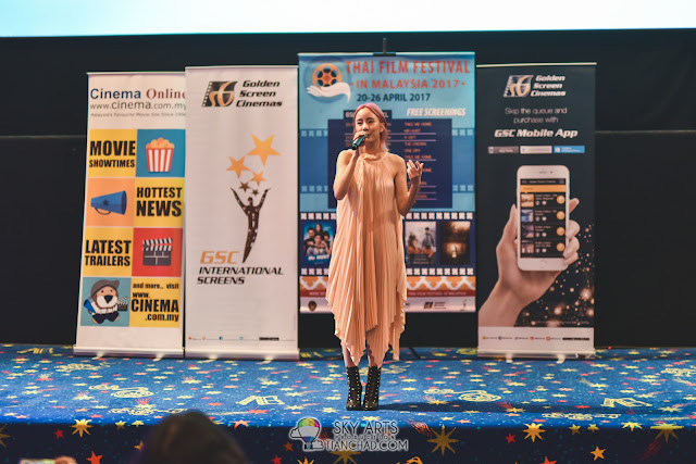 Special singing performance by Ms. Note Panayanggool, Thai singer and actress at Thai Film Festival in Malaysia