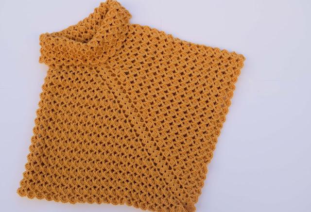 3-Imagen Crochet Poncho cuello de tortuga adulto a crochet y ganchillo y Majovle Crochet
