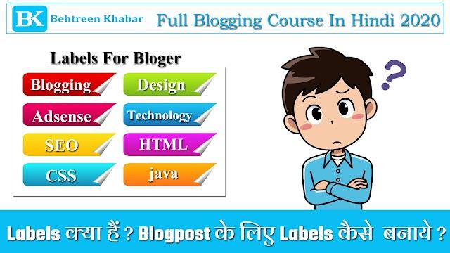 Labels क्या हैं ? Blogpost के लिए Labels कैसे  बनाये ?