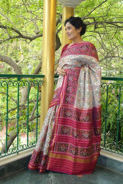 Double ikat Patan Patola Saree