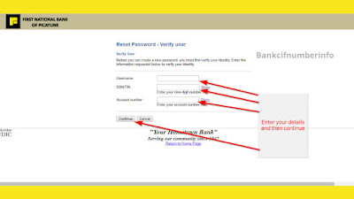 Steps to recover the password