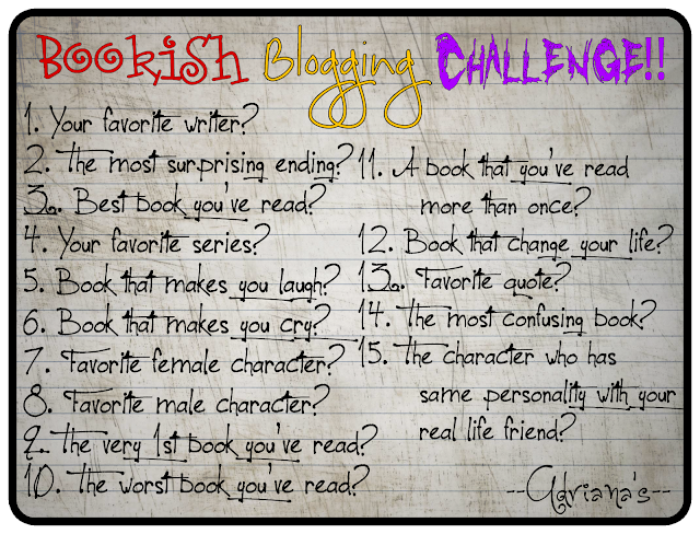 15 Questions for Bookish Blogging Challenge