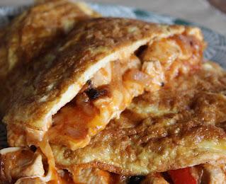 Tortilla francesa de pechuga de pollo