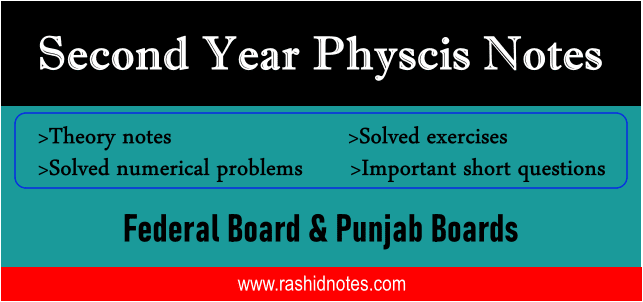 2nd Year Physics Notes for Punjab Boards