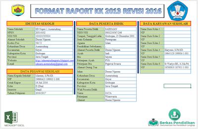 Raport Peserta Didik Dilengkapi Petunjuk Pengisian Edisi Revisi Kurikulum 2013