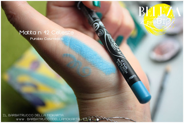 beleza purobio eyepencil matite swatches  42 celeste