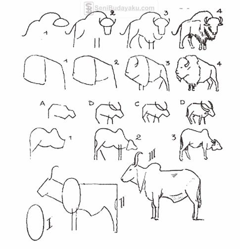 Cara Menggambar Hewan Dari Angka dan Huruf