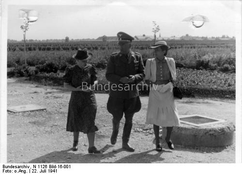 Marga Himmler at Dachau, 22 July 1941 worldwartwo.filminspector.com