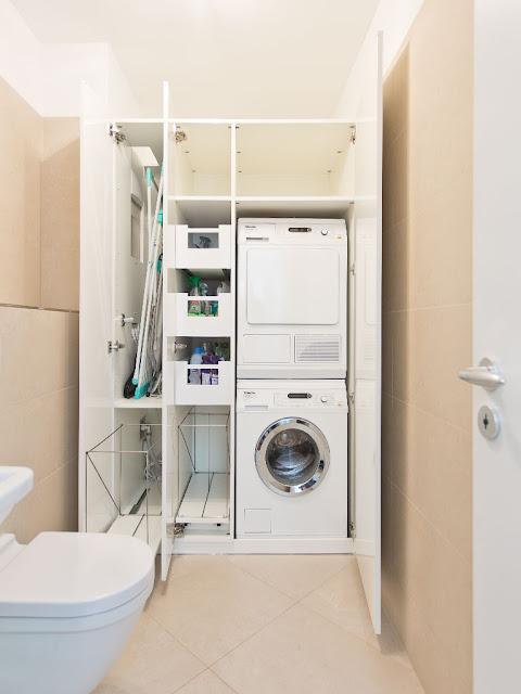 Einbauschrank für Waschmaschine und Trockner, Miele Haushaltsgeräte Harald Maier, Beratung, Verkauf, Lieferung, Einbau, Service und Reparatur