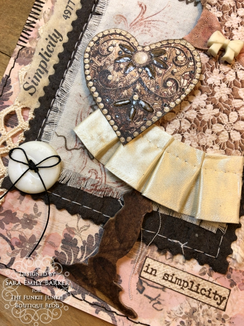 Sara Emily Barker https://sarascloset1.blogspot.com/2020/04/beauty-in-simplicity.html Sewing Themed Card Stamperia Old Lace Tim Holtz Stitches Tiny Text 4