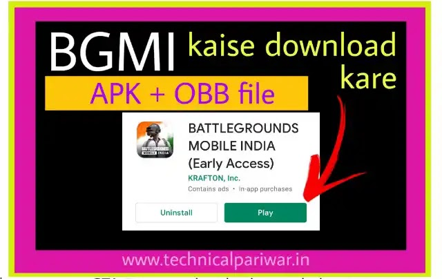 download BGMI new pubg game APK file with obb