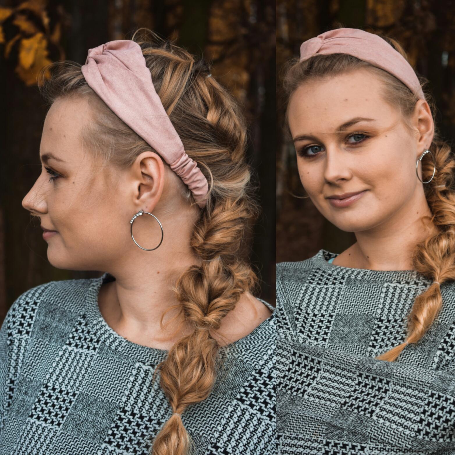 Jak nosić opaski do włosów na gumce? Inspiracje #1