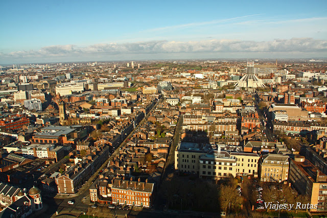 Vistas desde la catedral de Liverpool