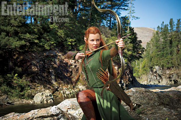 Evangeline Lilly as Tauriel on The Hobbit: The Desolation of Smaug