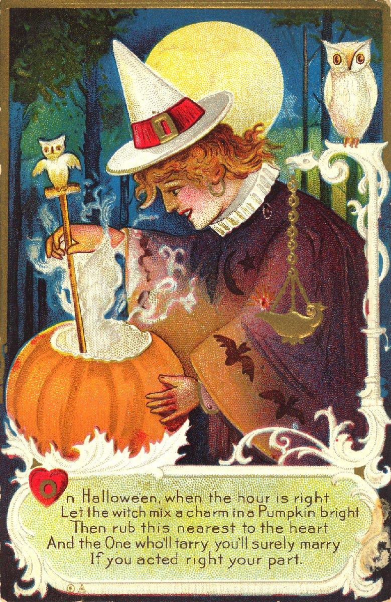 Старинные открытки в честь Хэллоуина - 03