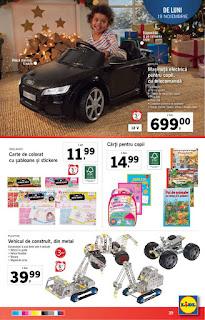 catalog lidl 19 - 25 noiembrie 2018 jucarii de craciun pentru copii