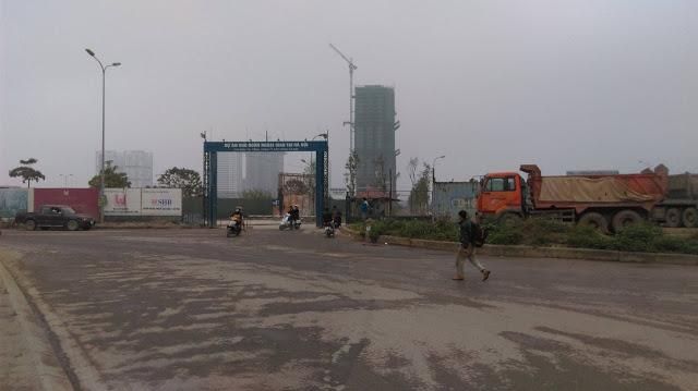 Cổng vào dự án khu Ngoại giao đoàn