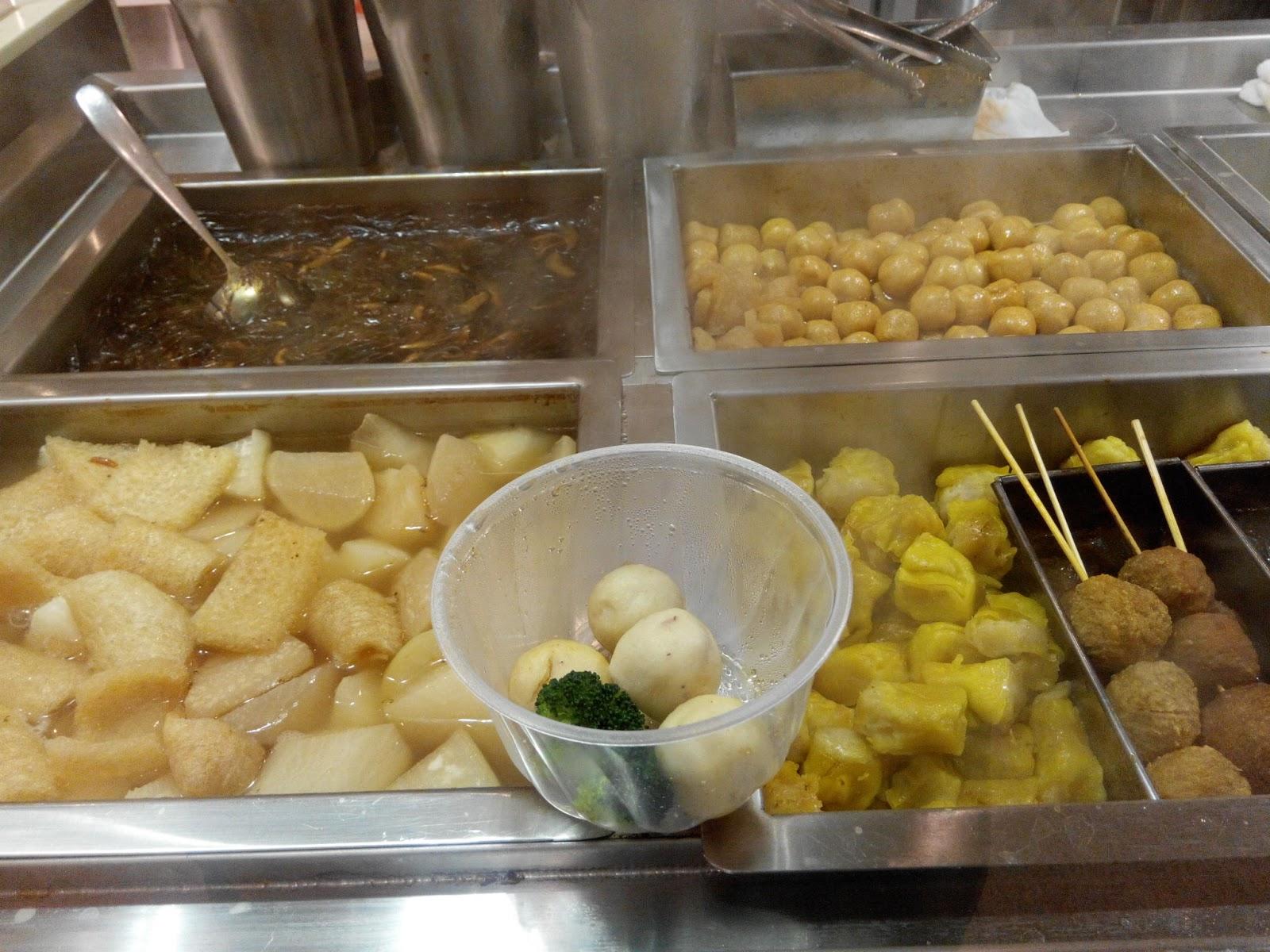 Street eats: pig skins, fish balls,