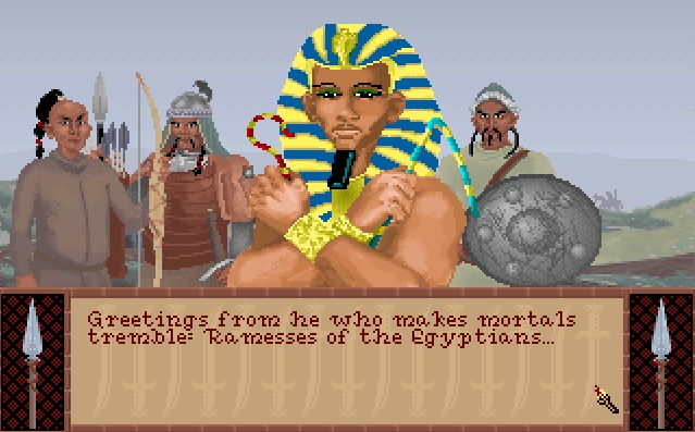 Screenshot of Ramesses I from Sid Meier's Civilization