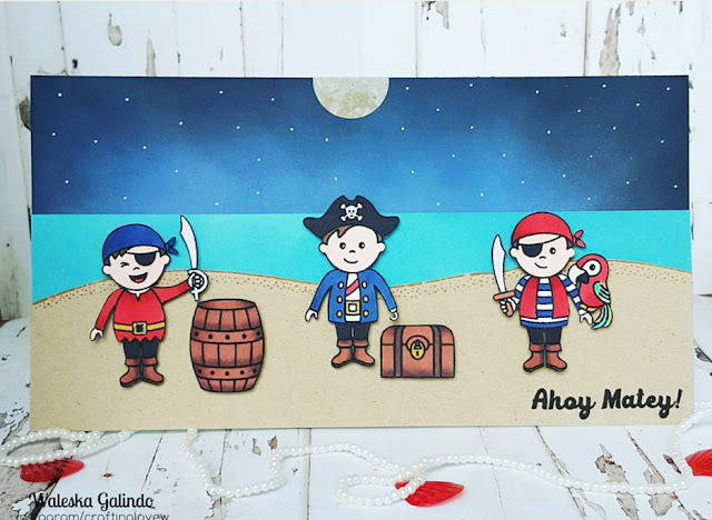 Sunny Studio Stamps: Pirate Pals Card by Waleska Galindo