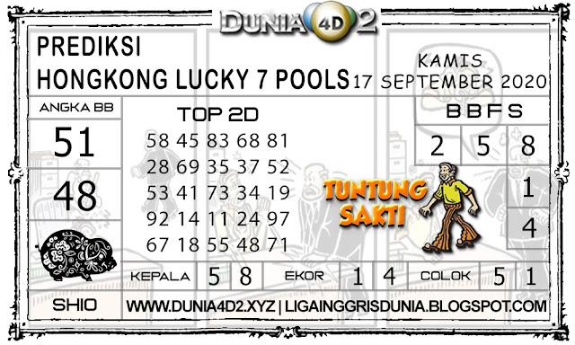 Prediksi Togel HONGKONG LUCKY7 DUNIA4D2 20 SEPTEMBER 2020