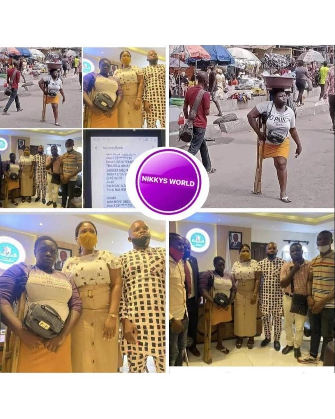 A man has proposed to a physically challenged young lady after she got N14 million from Nigerians.