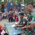 Satgas Pamrahwan Maluku Yonif RK 136/TS Gelar Pengobatan Gratis