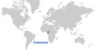 Gambar Peta letak Kamerun