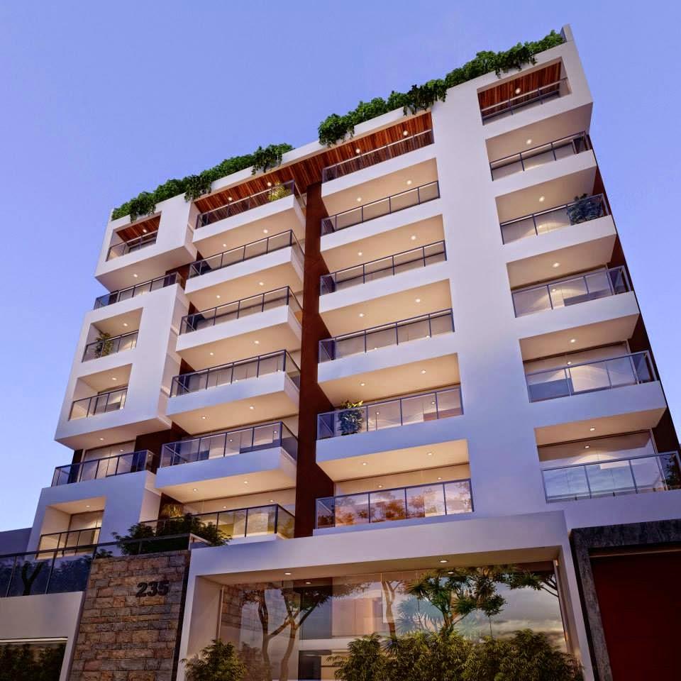 Fachadas de edificios de departamentos fachadas de casas for Planos de apartamentos modernos
