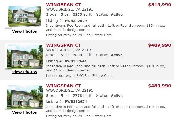 Cardinal Grove Woodbridge Va Homes For Sale
