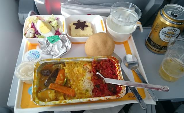 Lufthansa - vegetarisches Essen auf dem Rückflug