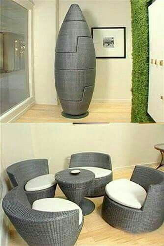 Space saving furniture is a small highly stylish and designed for the on-the-go lifestyles now a day's. These 50 images of smart space-saving furniture will show you how much small space well-designed furniture can save you.