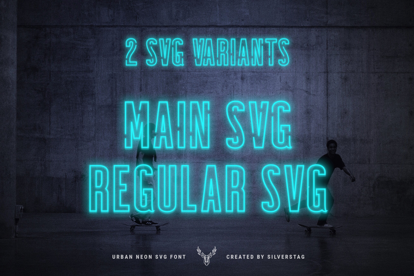 Download Download 7EVEN SVG - Urban Neon Font Pack