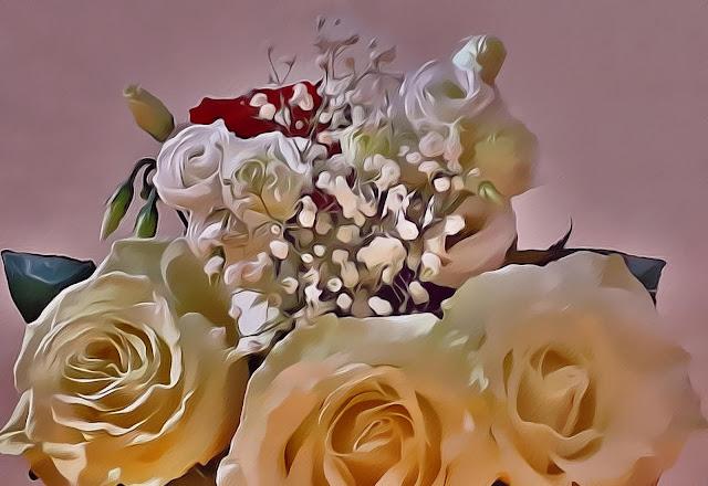 Красивые открытки бесплатно для вас / Beautiful postcards are free for you, p_i_r_a_n_y_a - Белые розы, живопись