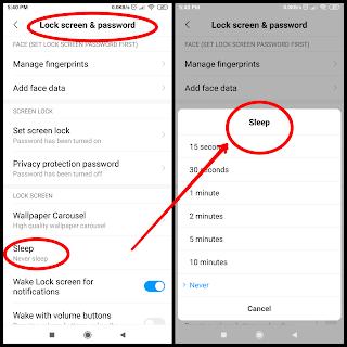 Redmi note 5 pro settings menu