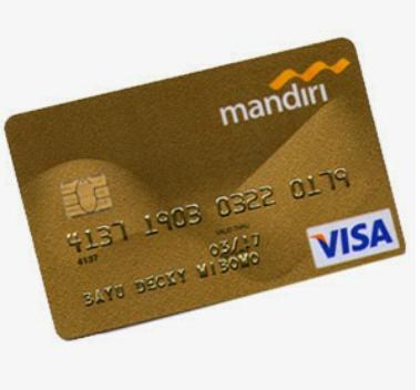 Kartu krefit jenis gold card mandiri