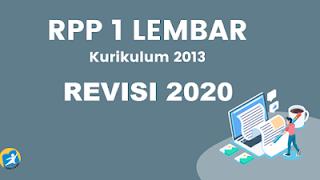 RPP 1 Lembar Revisi 2020 Mapel PAK Dan BP Kelas VII SMP