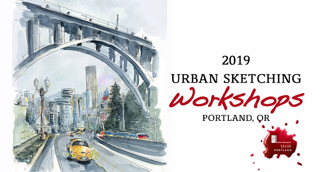2019 Urban Sketching Workshops